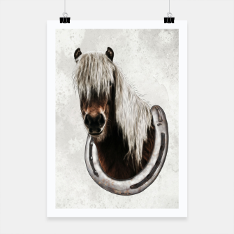 Thumbnail image of Pony Portrait - Graphic Style Plakat, Live Heroes