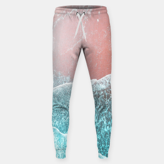 Miniatur Sea Blue and Rose Gold Cotton sweatpants, Live Heroes