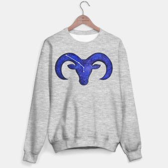 Miniatur Astrological sign aries constellation Sweater regular grey, Live Heroes