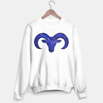 Miniatur Astrological sign aries constellation Sweater regular white, Live Heroes
