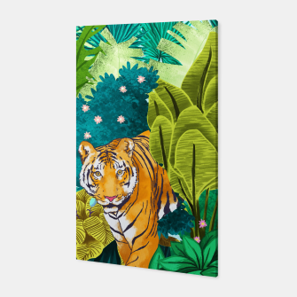 Thumbnail image of Jungle Tiger Canvas, Live Heroes