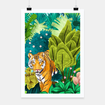 Thumbnail image of Jungle Tiger Poster, Live Heroes