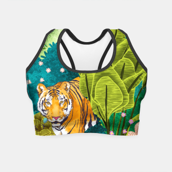 Thumbnail image of Jungle Tiger Crop Top, Live Heroes