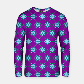 Thumbnail image of Geometrical Star Pattern on Purple Cotton sweater, Live Heroes