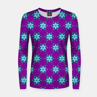 Thumbnail image of Geometrical Star Pattern on Purple Woman cotton sweater, Live Heroes