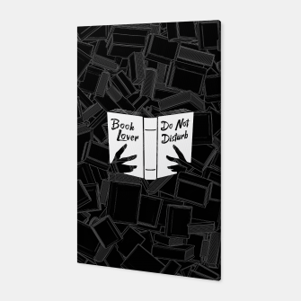 Book Lover, Do Not Disturb Canvas thumbnail image