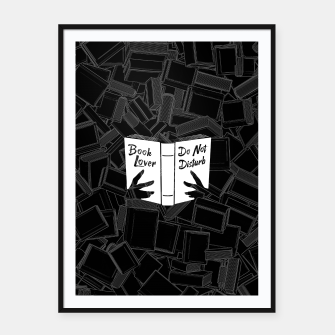 Thumbnail image of Book Lover, Do Not Disturb Framed poster, Live Heroes