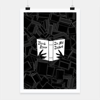 Miniatur Book Lover, Do Not Disturb Poster, Live Heroes