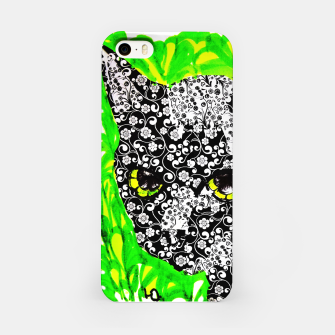 Thumbnail image of Kaida black cat pattern tattoo flower power iPhone Case, Live Heroes