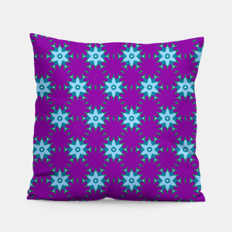 Thumbnail image of Geometrical Star Pattern on Purple Pillow, Live Heroes