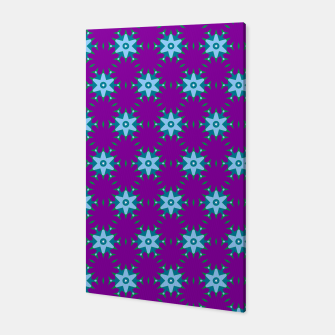 Thumbnail image of Geometrical Star Pattern on Purple Canvas, Live Heroes