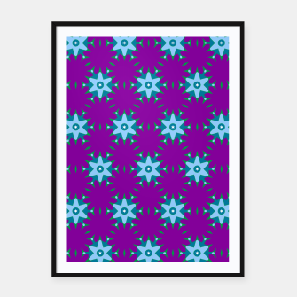 Thumbnail image of Geometrical Star Pattern on Purple Framed poster, Live Heroes
