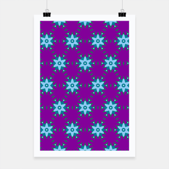 Thumbnail image of Geometrical Star Pattern on Purple Poster, Live Heroes