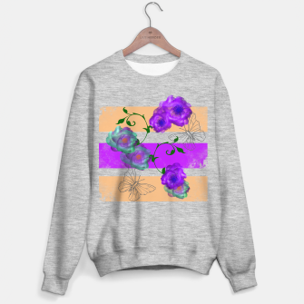 Thumbnail image of Vintage Purple Teal Floral Geo Mix Sweater regular, Live Heroes