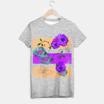 Thumbnail image of Vintage Purple Teal Floral Geo Mix T-shirt regular, Live Heroes