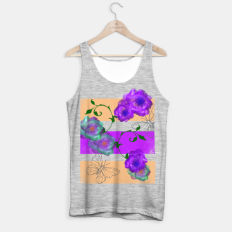 Thumbnail image of Vintage Purple Teal Floral Geo Mix Tank Top regular, Live Heroes