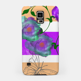 Thumbnail image of Vintage Purple Teal Floral Geo Mix Samsung Case, Live Heroes