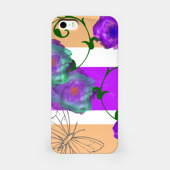 Thumbnail image of Vintage Purple Teal Floral Geo Mix iPhone Case, Live Heroes