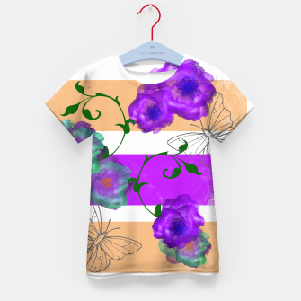 Thumbnail image of Vintage Purple Teal Floral Geo Mix Kid's t-shirt, Live Heroes
