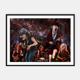 Thumbnail image of Rock n Roll Train Framed poster, Live Heroes