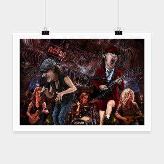 Thumbnail image of Rock n Roll Train Poster, Live Heroes