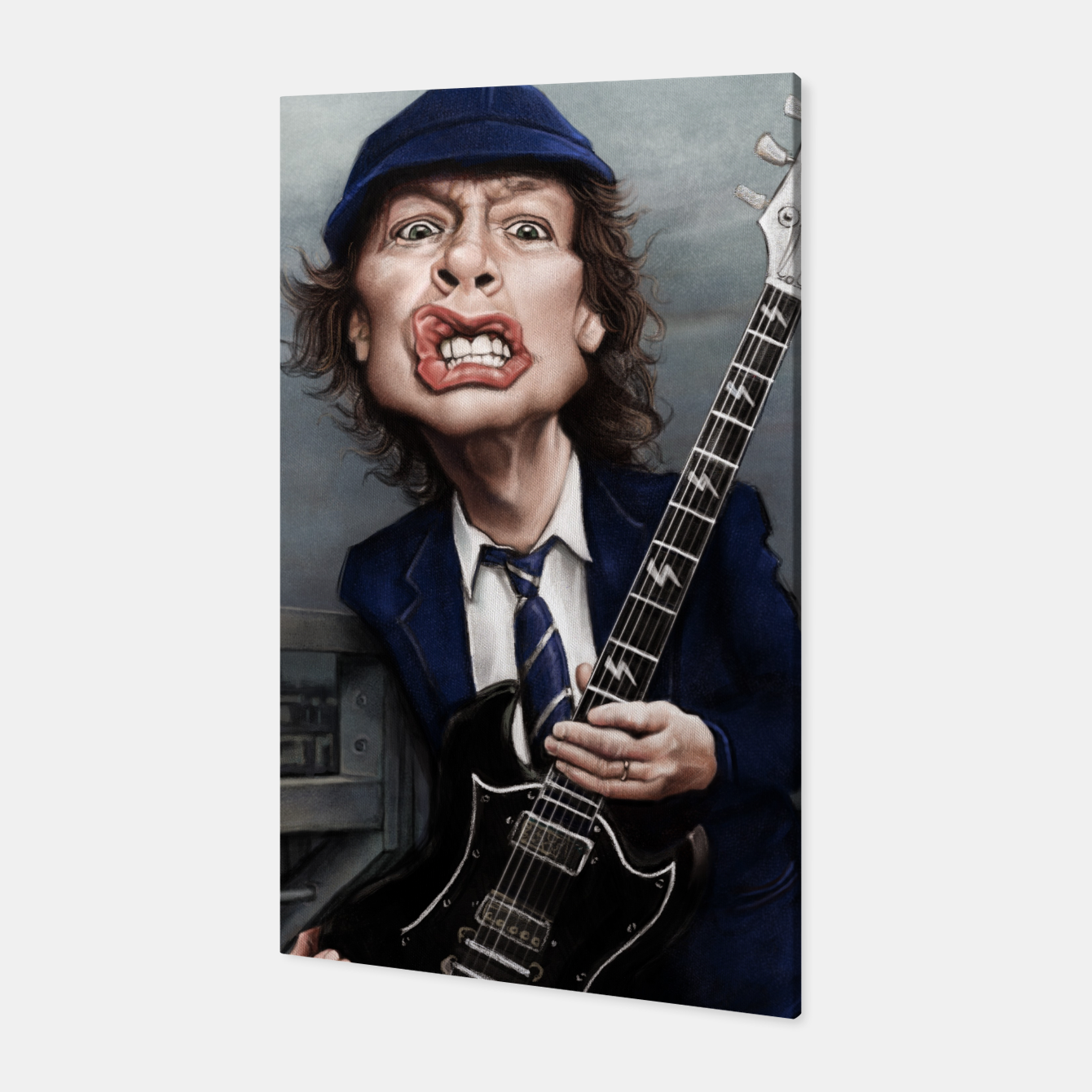 Image of Angus Young Canvas - Live Heroes