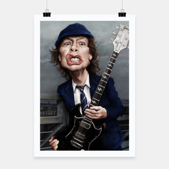Thumbnail image of Angus Young Poster, Live Heroes
