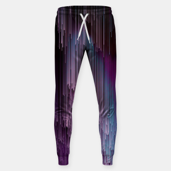 Thumbnail image of Darkness Glitches Out - Abstract Pixel Art Cotton sweatpants, Live Heroes