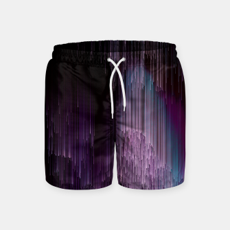 Thumbnail image of Darkness Glitches Out - Abstract Pixel Art Swim Shorts, Live Heroes