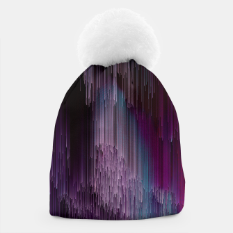 Thumbnail image of Darkness Glitches Out - Abstract Pixel Art Beanie, Live Heroes