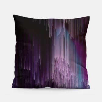 Thumbnail image of Darkness Glitches Out - Abstract Pixel Art Pillow, Live Heroes