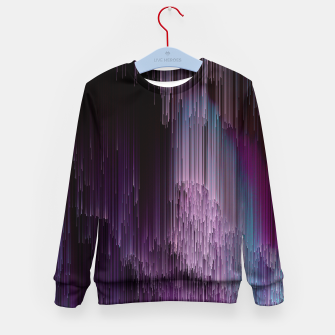 Thumbnail image of Darkness Glitches Out - Abstract Pixel Art Kid's sweater, Live Heroes