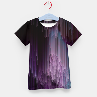Thumbnail image of Darkness Glitches Out - Abstract Pixel Art Kid's t-shirt, Live Heroes