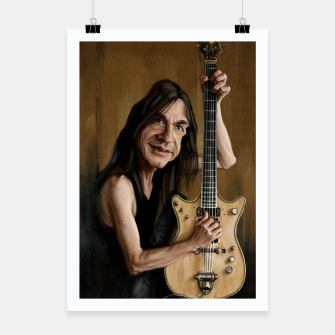 Thumbnail image of Malcolm Young I Poster, Live Heroes