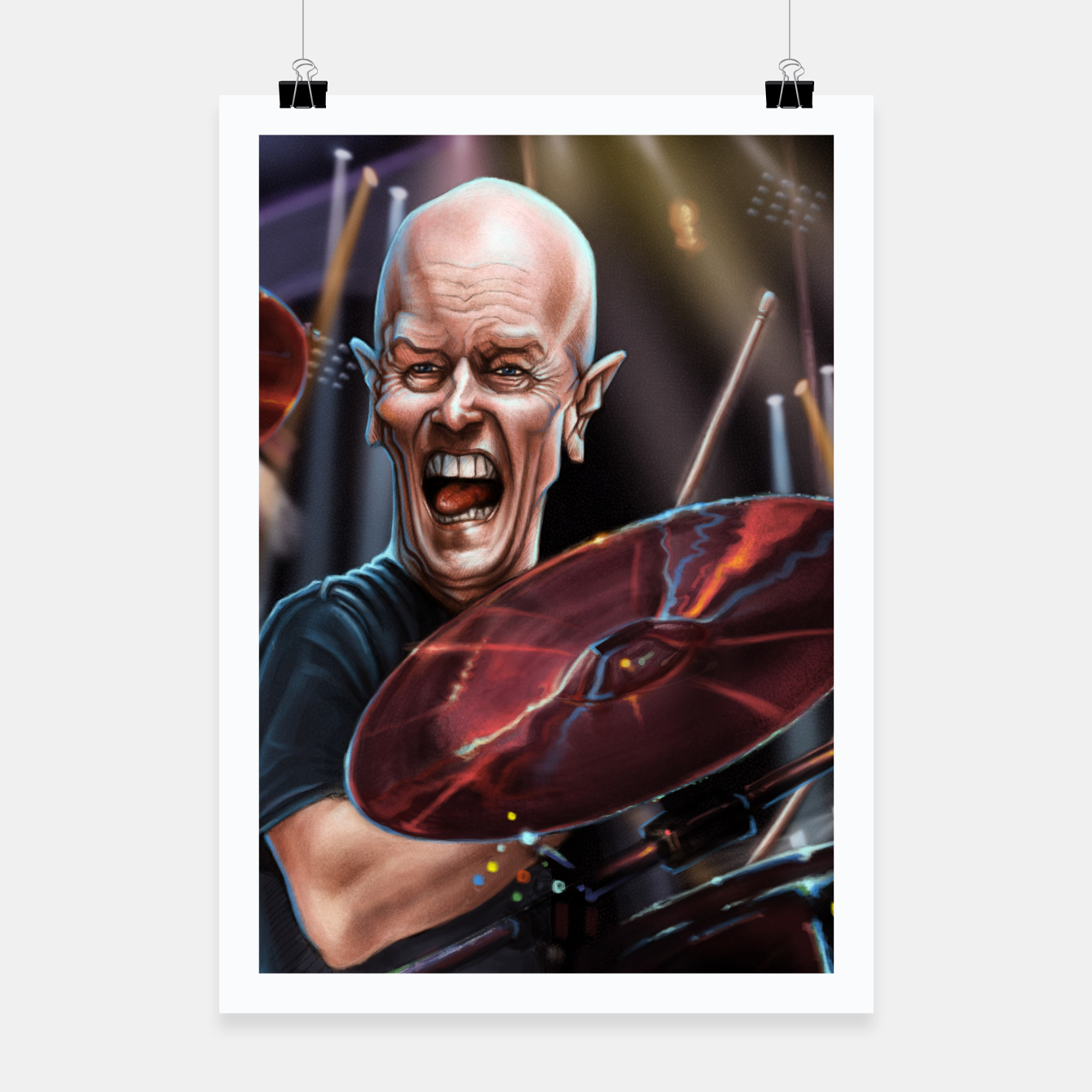 Image of Chris Slade Poster - Live Heroes