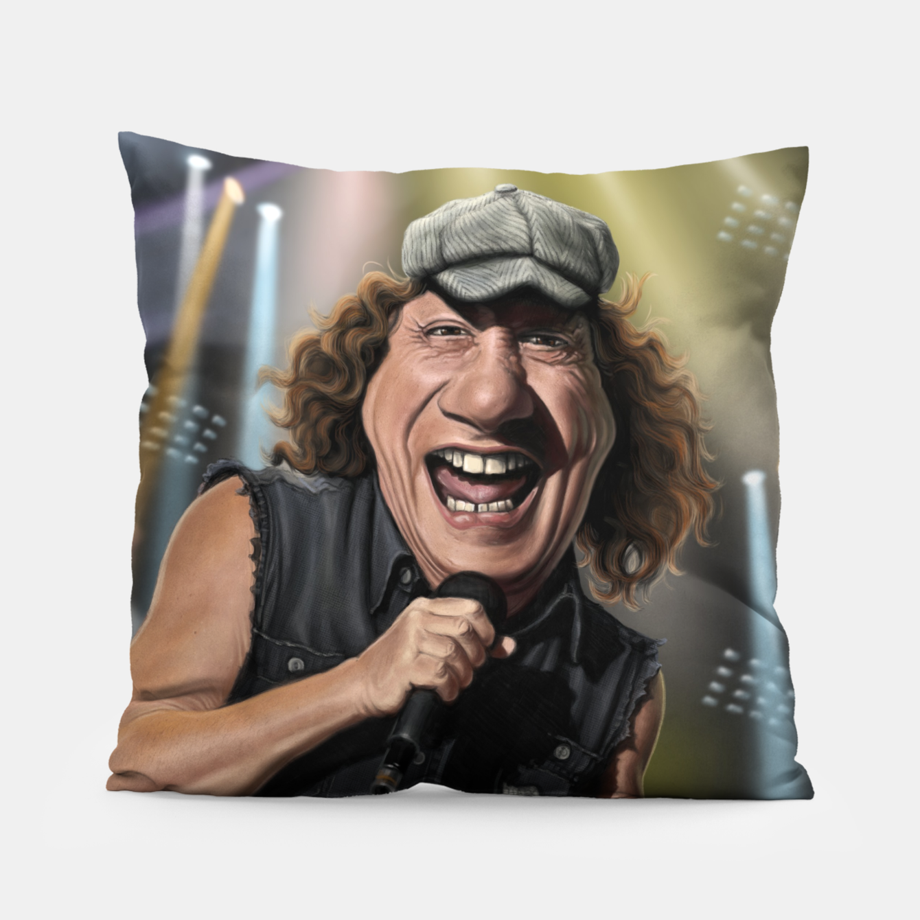 Image of Brian Johnson Pillow - Live Heroes