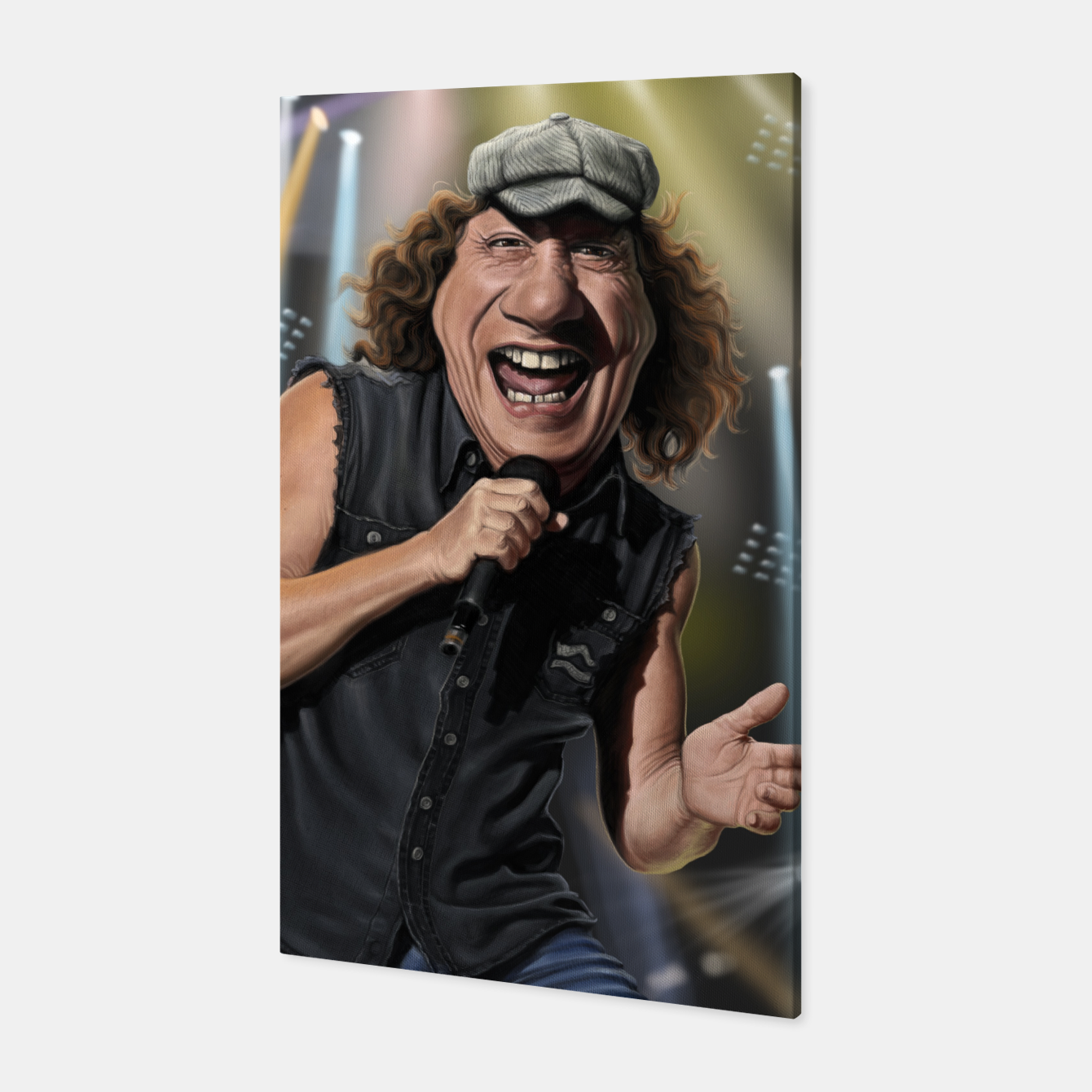 Image of Brian Johnson Canvas - Live Heroes