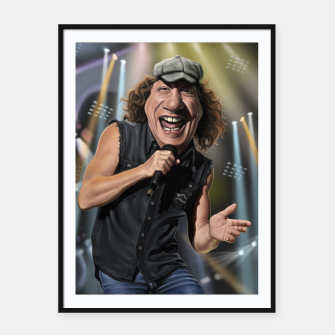 Thumbnail image of Brian Johnson Framed poster, Live Heroes