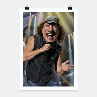 Thumbnail image of Brian Johnson Poster, Live Heroes