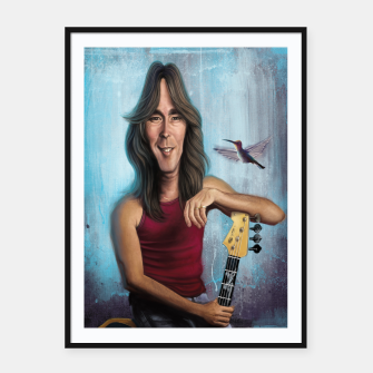 Thumbnail image of Cliff Williams Framed poster, Live Heroes