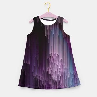 Thumbnail image of Darkness Glitches Out - Abstract Pixel Art Girl's summer dress, Live Heroes
