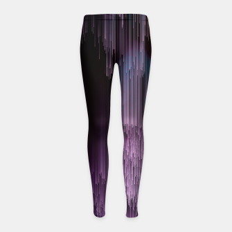 Thumbnail image of Darkness Glitches Out - Abstract Pixel Art Girl's leggings, Live Heroes