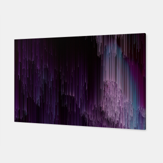 Thumbnail image of Darkness Glitches Out - Abstract Pixel Art Canvas, Live Heroes
