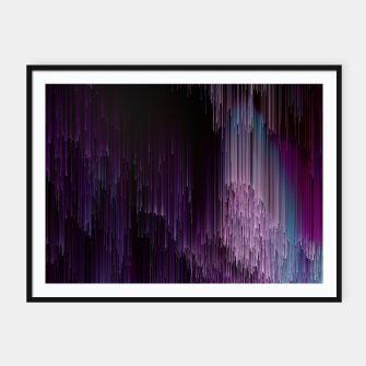 Thumbnail image of Darkness Glitches Out - Abstract Pixel Art Framed poster, Live Heroes