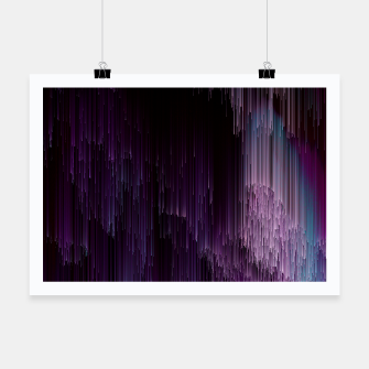 Thumbnail image of Darkness Glitches Out - Abstract Pixel Art Poster, Live Heroes
