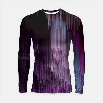 Thumbnail image of Darkness Glitches Out - Abstract Pixel Art Longsleeve rashguard , Live Heroes