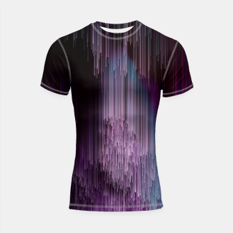 Thumbnail image of Darkness Glitches Out - Abstract Pixel Art Shortsleeve rashguard, Live Heroes