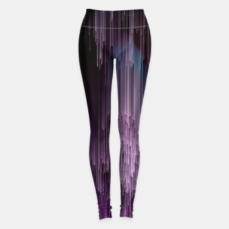 Thumbnail image of Darkness Glitches Out - Abstract Pixel Art Leggings, Live Heroes