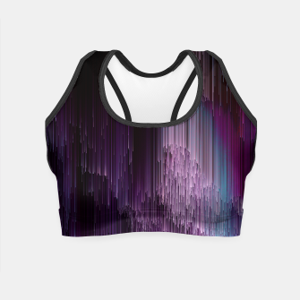 Thumbnail image of Darkness Glitches Out - Abstract Pixel Art Crop Top, Live Heroes