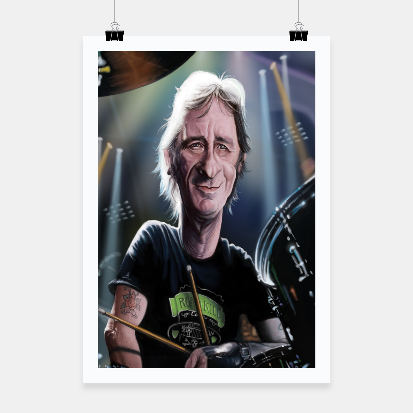 Image of Phil Rudd Poster - Live Heroes
